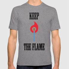Keep the Flame Mens Fitted Tee Tri-Grey SMALL