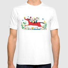 happy horse Mens Fitted Tee White SMALL