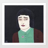 Girl A Art Print
