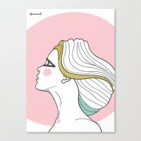 Profile Girl Canvas Print