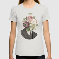 True Affection Womens Fitted Tee Silver SMALL