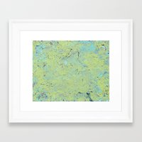 Slime Mold Framed Art Print