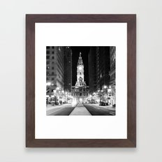 Philly by Night Framed Art Print