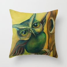 Big Dance, Little Branch Throw Pillow