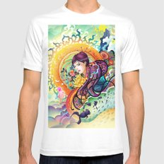Trance Mens Fitted Tee White SMALL
