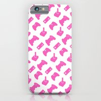 Gamer  - Pink On White iPhone 6 Slim Case