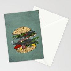 Vinyl burger Stationery Cards