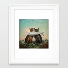Enjoy Your Dinner Framed Art Print