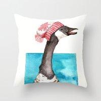 Canada Goose In A Canada… Throw Pillow