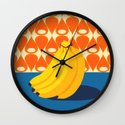 Fruit with Wallpaper (banana) Wall Clock
