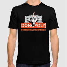 Donopoly: Why buy Park Place or Boardwalk when you can buy Pennsylvania Avenue! Black Mens Fitted Tee SMALL