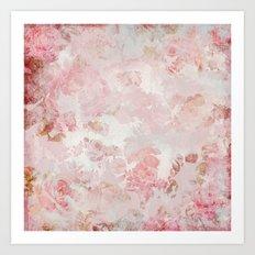 Floral painterly pattern Art Print