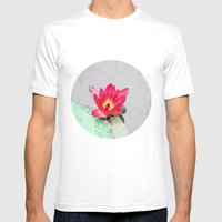 Art Style Pretty Pink Wa… Mens Fitted Tee White SMALL