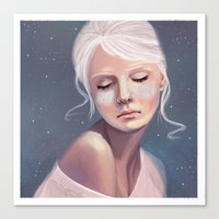 Her Cheeks Glowed with the Constellations of Lovers Canvas Print
