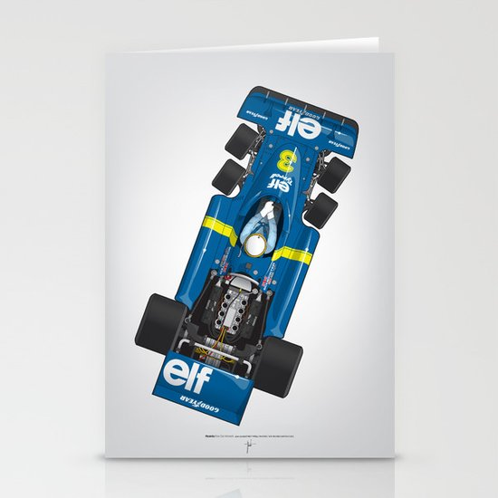Outline Series N.º3, Jody Scheckter, Tyrrell-Ford 1976 Stationery Card