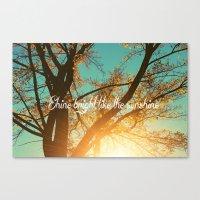 Shine Bright Like The Su… Canvas Print