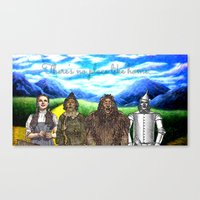 No Place Like Home Wizar… Canvas Print