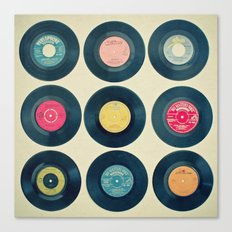 Vinyl Collection Canvas Print