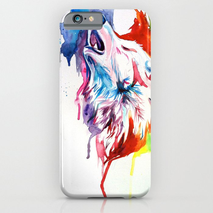 Rainbow Wolf IPhone & IPod Case By Katy Lipscomb