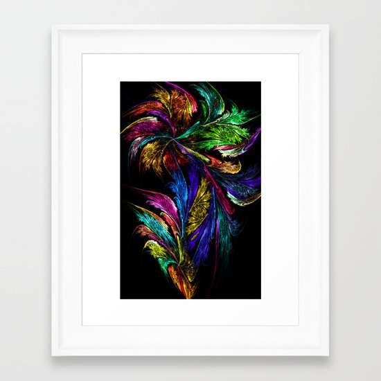 Flower - perhaps too colorful... Framed Art Print