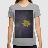 Miss Yellow Daisy Womens Fitted Tee Athletic Grey SMALL
