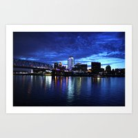 Cincinnati Skyline Art Print