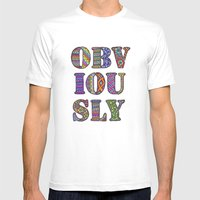 Obviously Mens Fitted Tee White SMALL