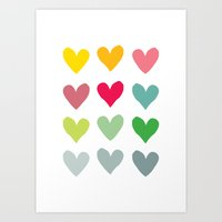 Heart pattern art  Art Print