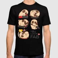 You Look Fab! -Puglie Mens Fitted Tee Black SMALL