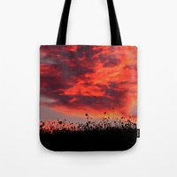 Sun Sets in the Field Tote Bag