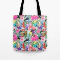 Butterflies and Moths Pattern - Grey Tote Bag