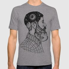 BEARDED MAN Mens Fitted Tee Athletic Grey SMALL