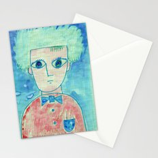 Grid boy Stationery Cards