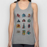 Monster Shapes Unisex Tank Top
