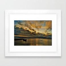 Fire in the Sky Framed Art Print
