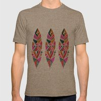 Brooklyn feathers Mens Fitted Tee Tri-Coffee SMALL