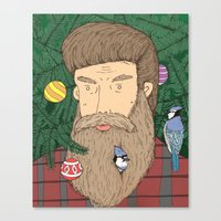 Christmas Man Canvas Print