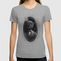 THE PLANET HEAD Womens Fitted Tee Athletic Grey SMALL