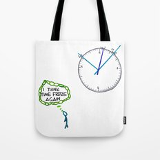 Shattered Frozen Time Tote Bag