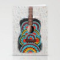Retro Guitar Stationery Cards