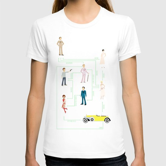The Great Gatsby Character Map T-shirt