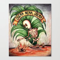 ¨burns Baby Burns¨ Canvas Print