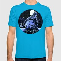 Mermaid Skull Mens Fitted Tee Teal SMALL