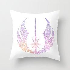 Star Wars Jedi Flowers Throw Pillow