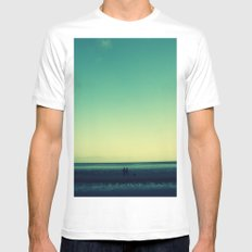 The long walk SMALL White Mens Fitted Tee