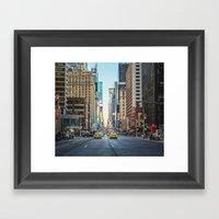 Sunset On 7th Avenue Framed Art Print