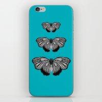 Butterflies On Teal iPhone & iPod Skin