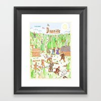 Locals Only- Danville Framed Art Print