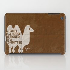 My - A camel is a horse designed by a committee - quote poster iPad Case