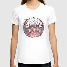 Rotten Head - Blue Nibbler Womens Fitted Tee White SMALL
